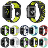 Colorful Soft Pierce Silicone Strap For Apple Watch Band All Series 38/42mm Sport Rubber Bracelet Wr