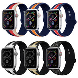 For Apple Watch Band iwatch 1 2 3 4 5 Silicone Strap 42mm 38mm 44mm 40mm Color printed silicone Wris
