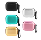 Electroplate TPU Case For AirPods Pro Shockproof Protective Cover With Keychain For AirPods Pro Wire